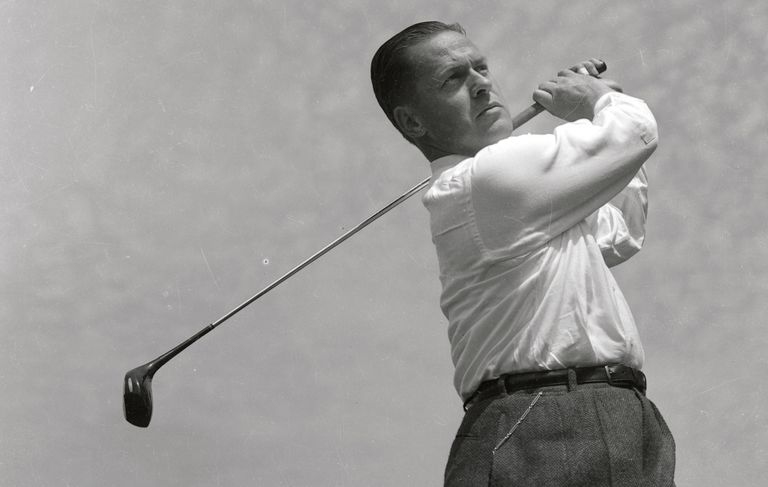 Bobby Jones practicing golf