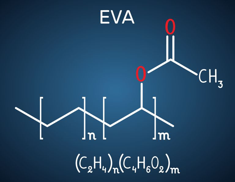 Ethylene-vinyl acetate (EVA). It is is the copolymer of ethylene and vinyl acetate