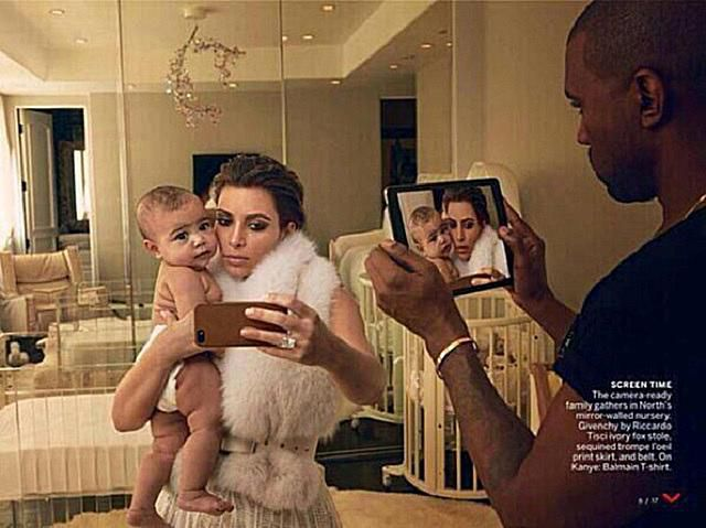 Kim Kardashian Kanye West And Baby North In The 5th Dimension