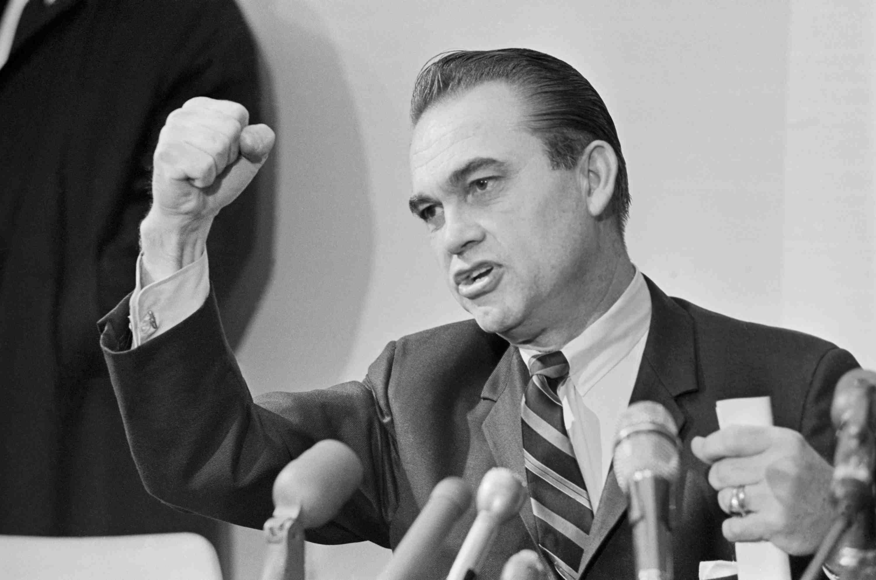 George Wallace campaigning in 1968