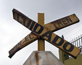 Caution train crossing