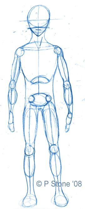 How to draw a basic manga character body proportions