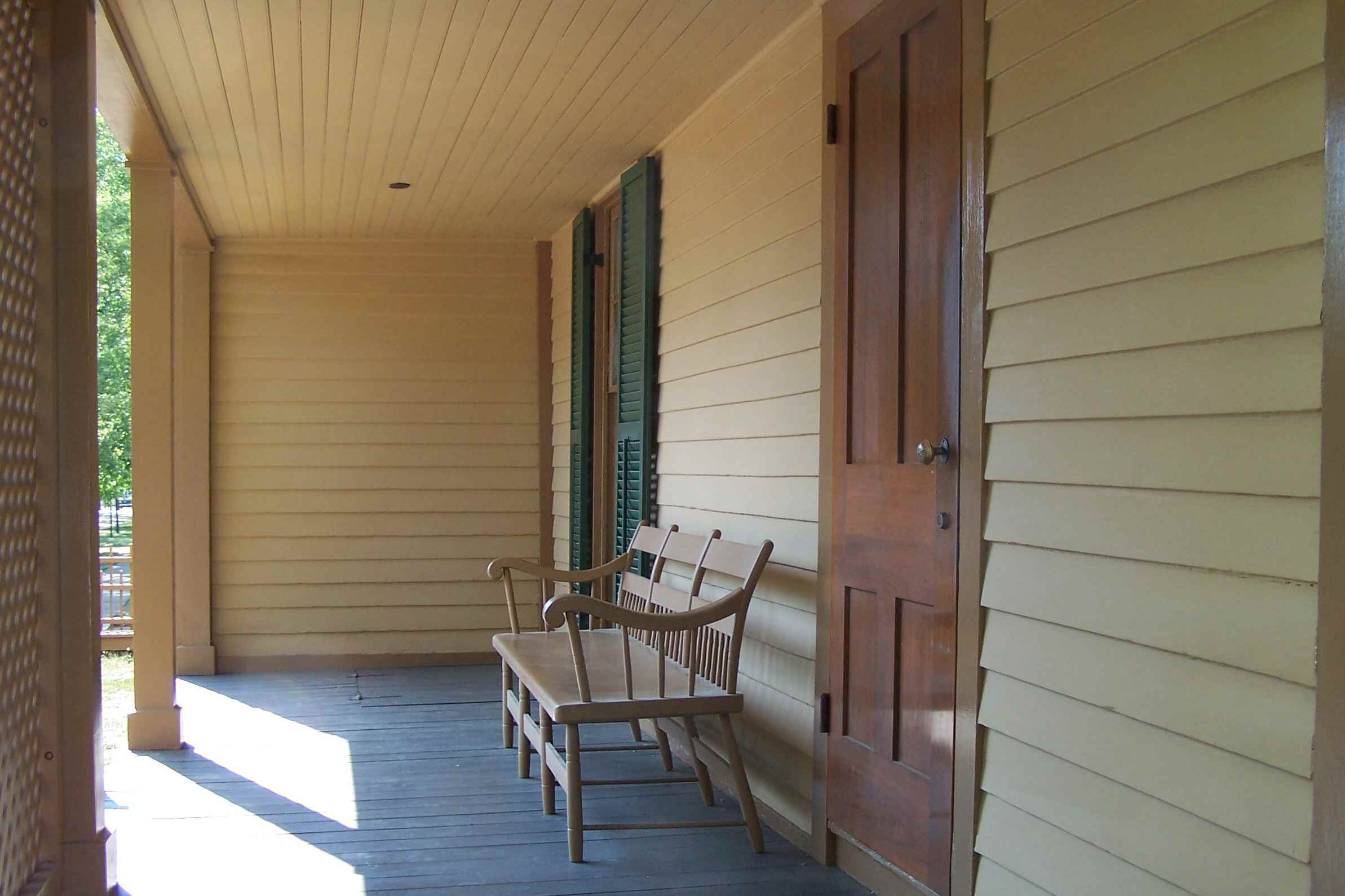 Country Side Porch at Lincoln's Springfield Home