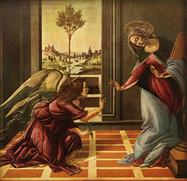 sandro botticelli castello annunciation
