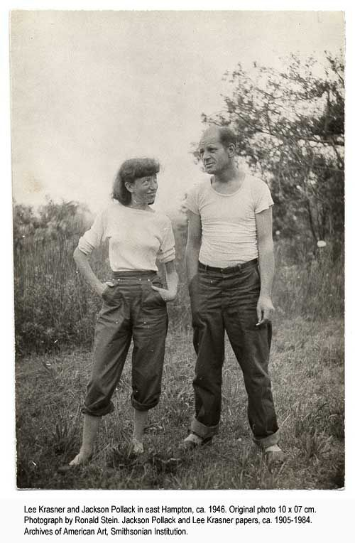 Photo Lee Krasner and Jackson Pollack
