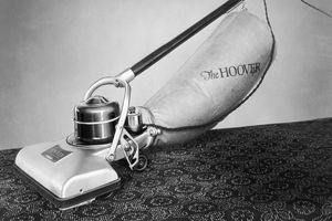 An early Hoover vacuum cleaner