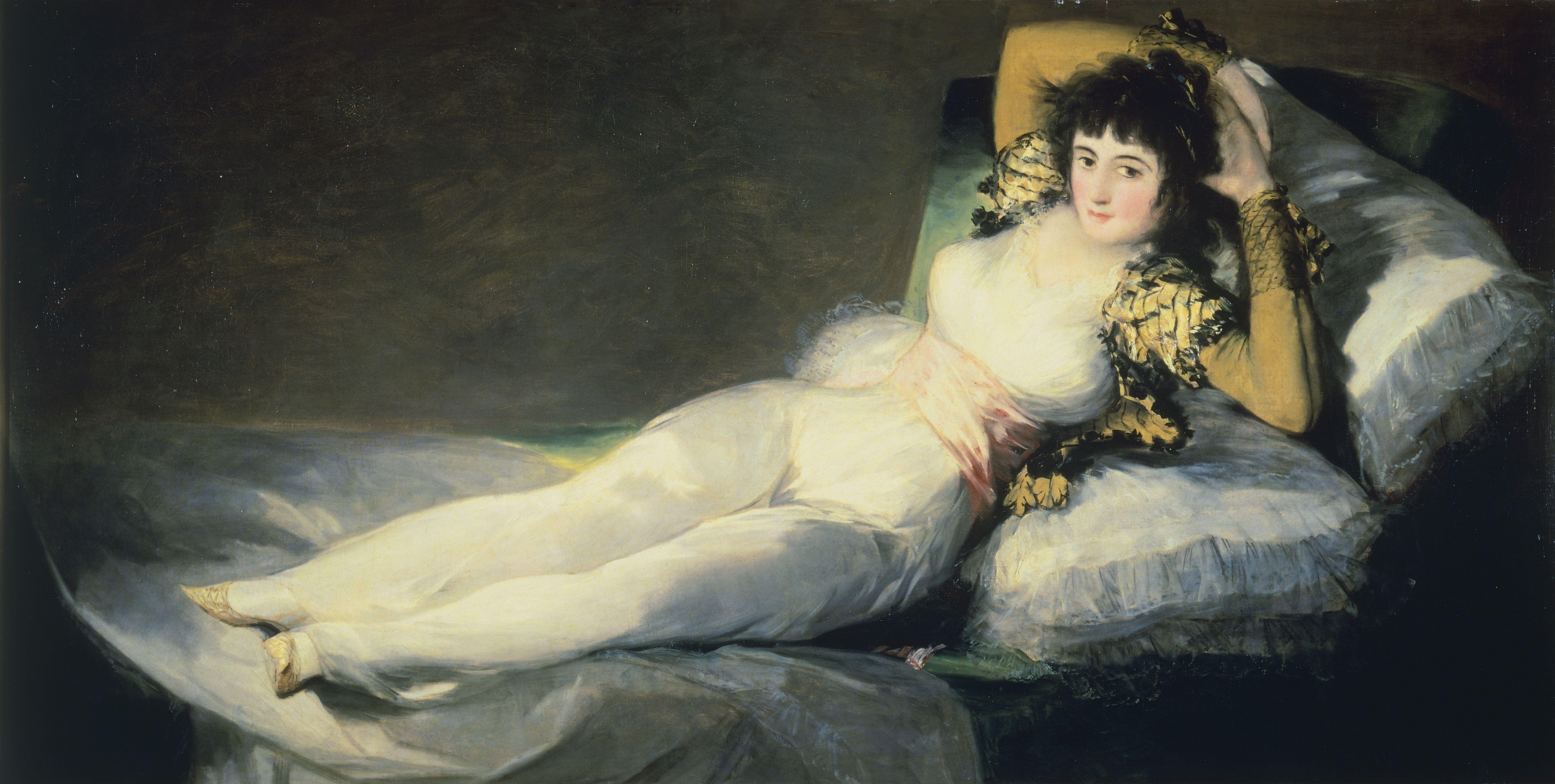 The clothed Maja (La Maja vestida), 1800, by Francisco de Goya (1746-1828), oil on canvas, 95x190 cm.