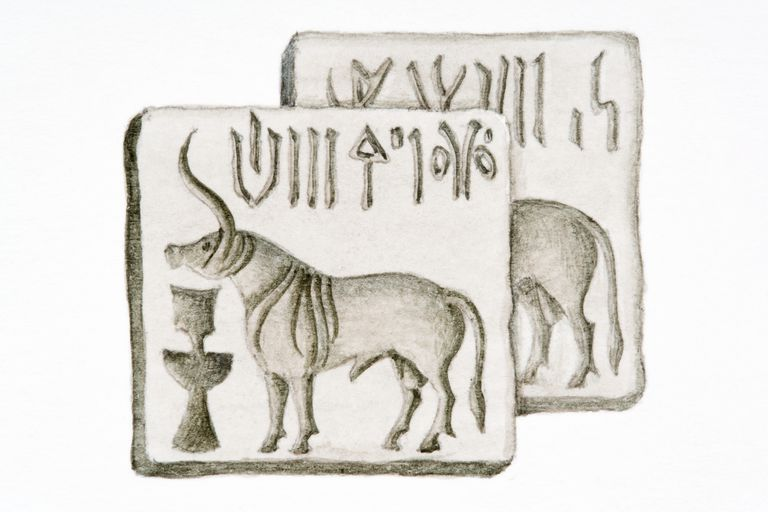 black and white Indus seals