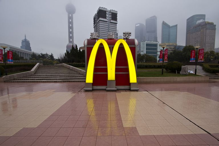McDonald's on riverfront in Pudong,China