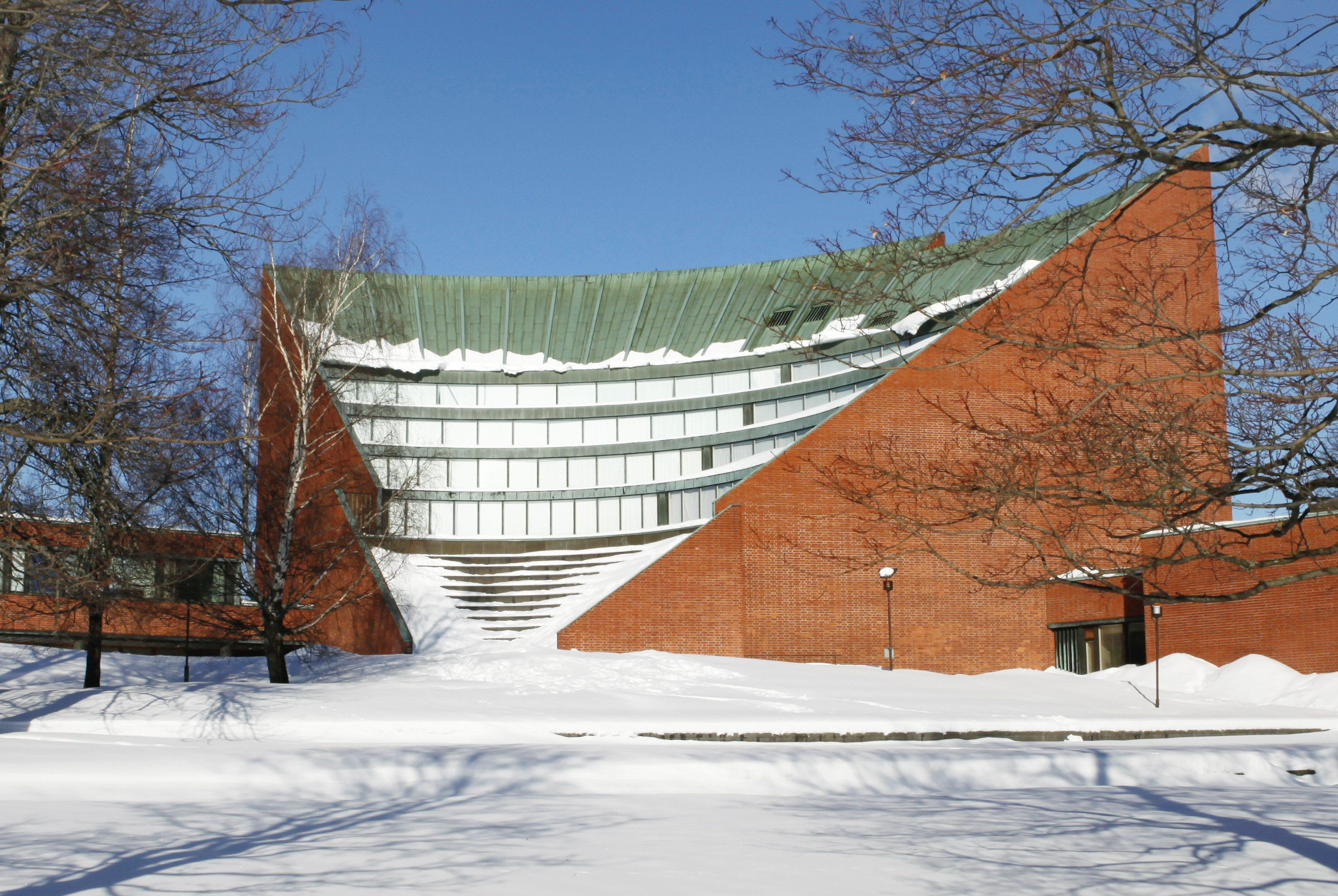 The old Helsinki University of Technology, designed by Aalto in the 1960s
