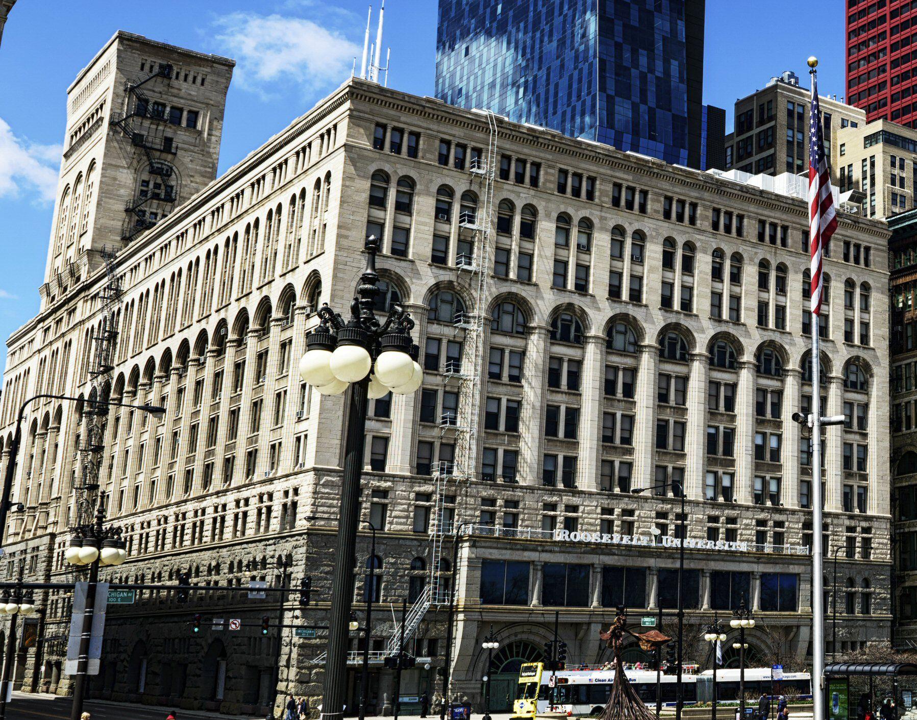 Auditorium Building on South Michigan Avenue in Chicago