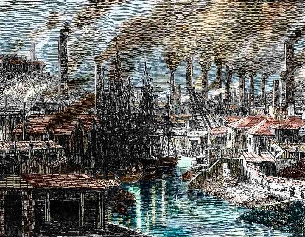 Industrial landscape, England