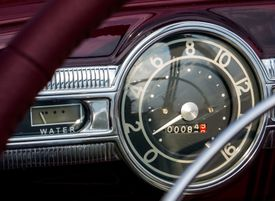Sunlight Falling On Gauge In Vintage Car