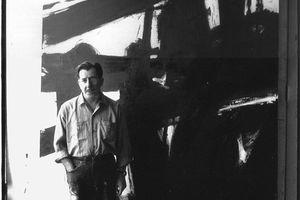 American painter Franz Kline in his studio