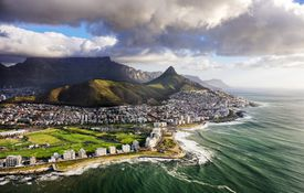 scenic view of Cape Town coast