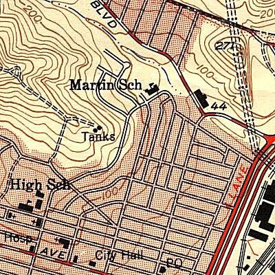 Symbols on a topographic map