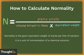 How to calculate normality