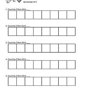 Worksheet # 4