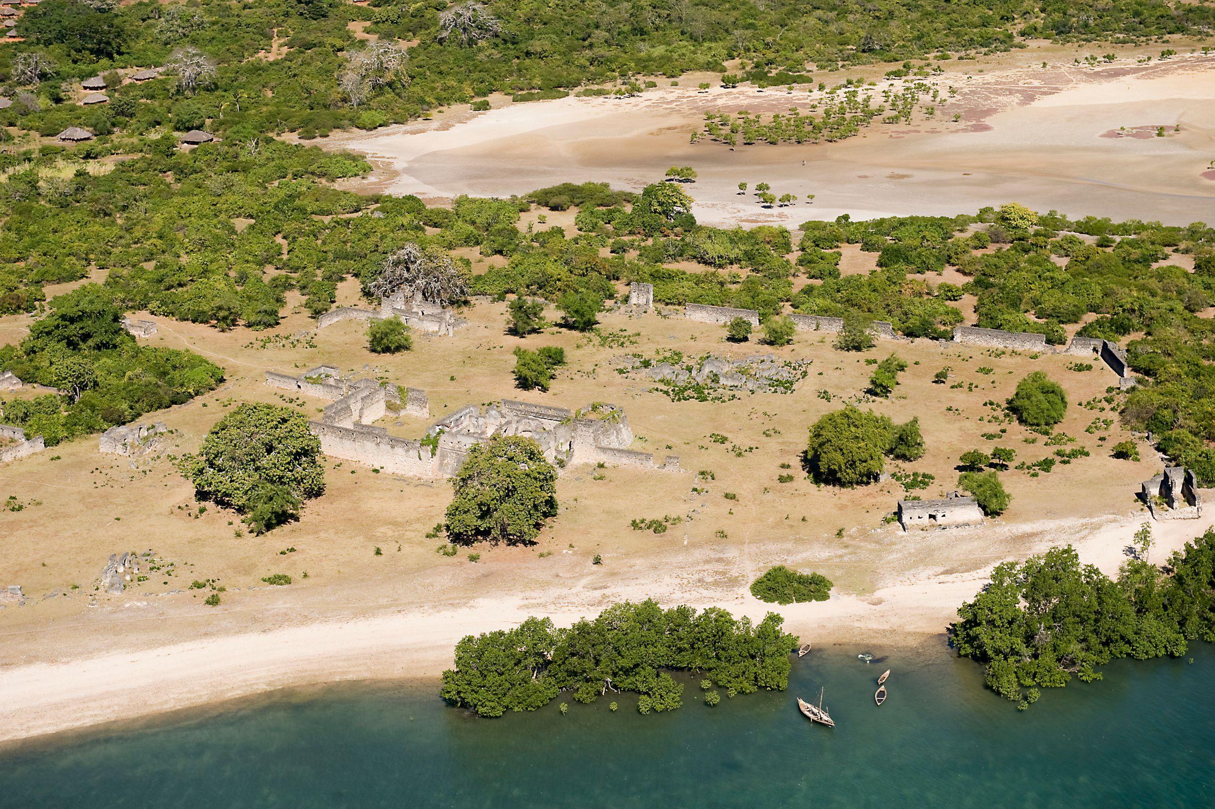 Kilwa Kisiwani, Aerial View