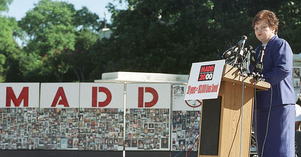 Mothers Against Drunk Driving (MADD) National President Millie Webb speaks during a 20th anniversary rally outside the U.S. Capitol, September 6, 2000 in Washington.