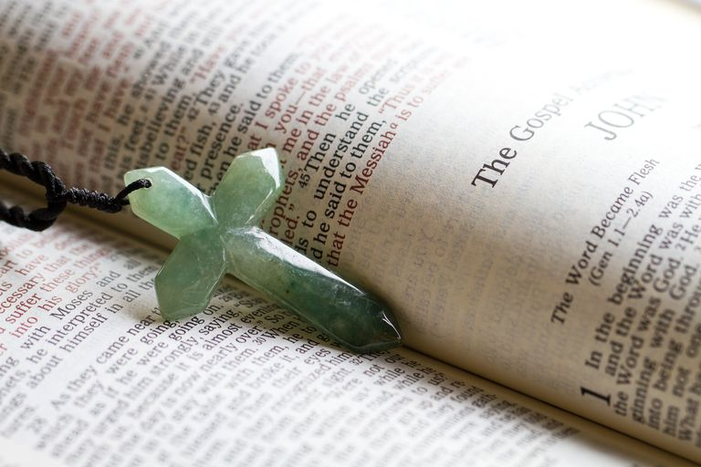 The cross on a bible passage