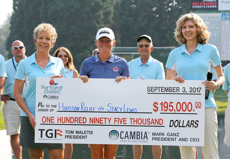 Stacy Lewis after winning the Cambia Portland Classic LPGA tournament.
