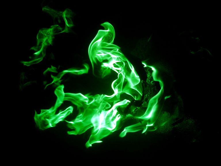 While there isn't a (safe) formula for real Game of Thrones wildfire, you can make green flames that look the part.