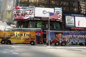 Times Square es un destino muy popular entre los turistas extranjeros