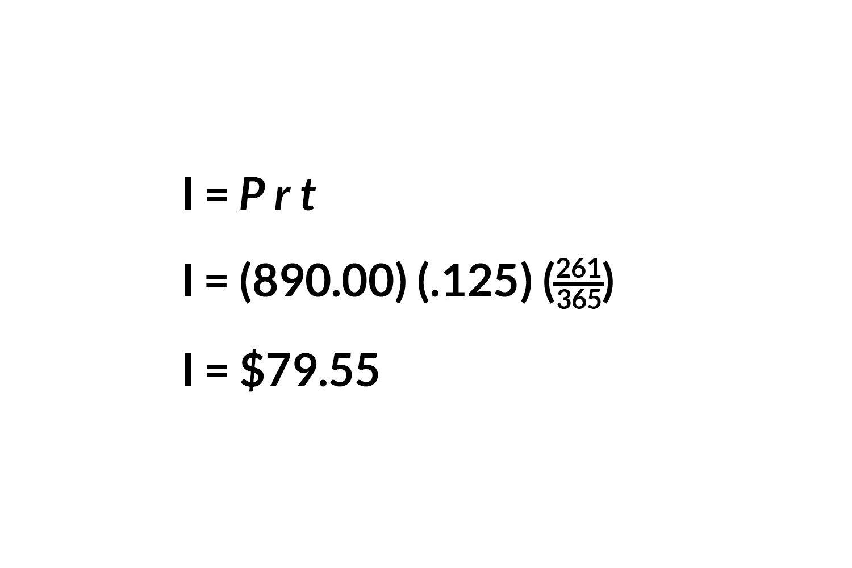 Calculating interest