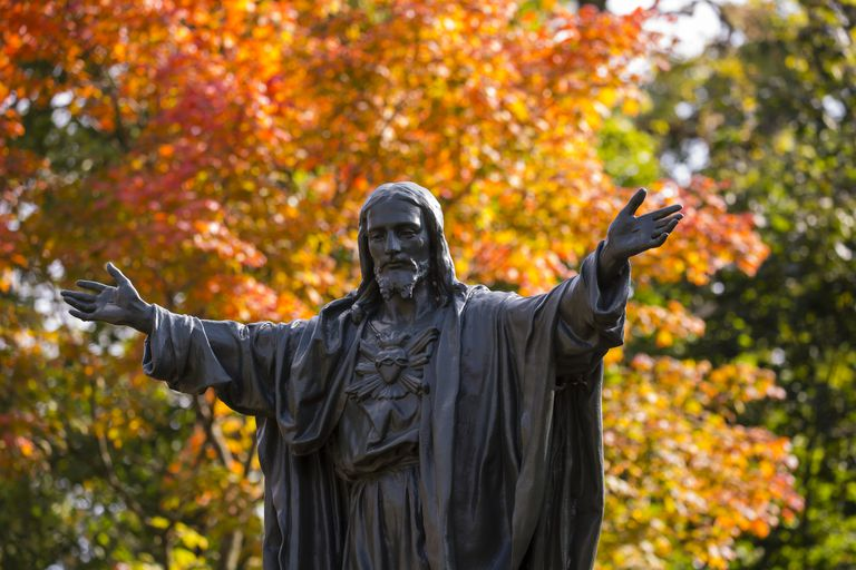 Sacred Heart Statue on the University of Notre Dame Campus