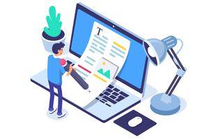 Blogging illustration