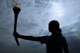 olympic torch burning