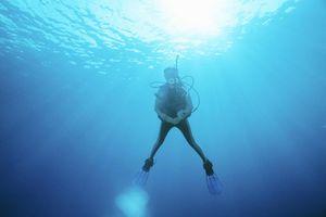 Scuba diver underwater