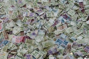pile of chinese money