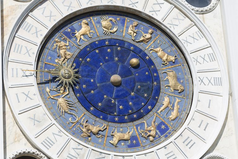 The astrological clock face in St.Mark's square