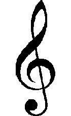 The treble clef