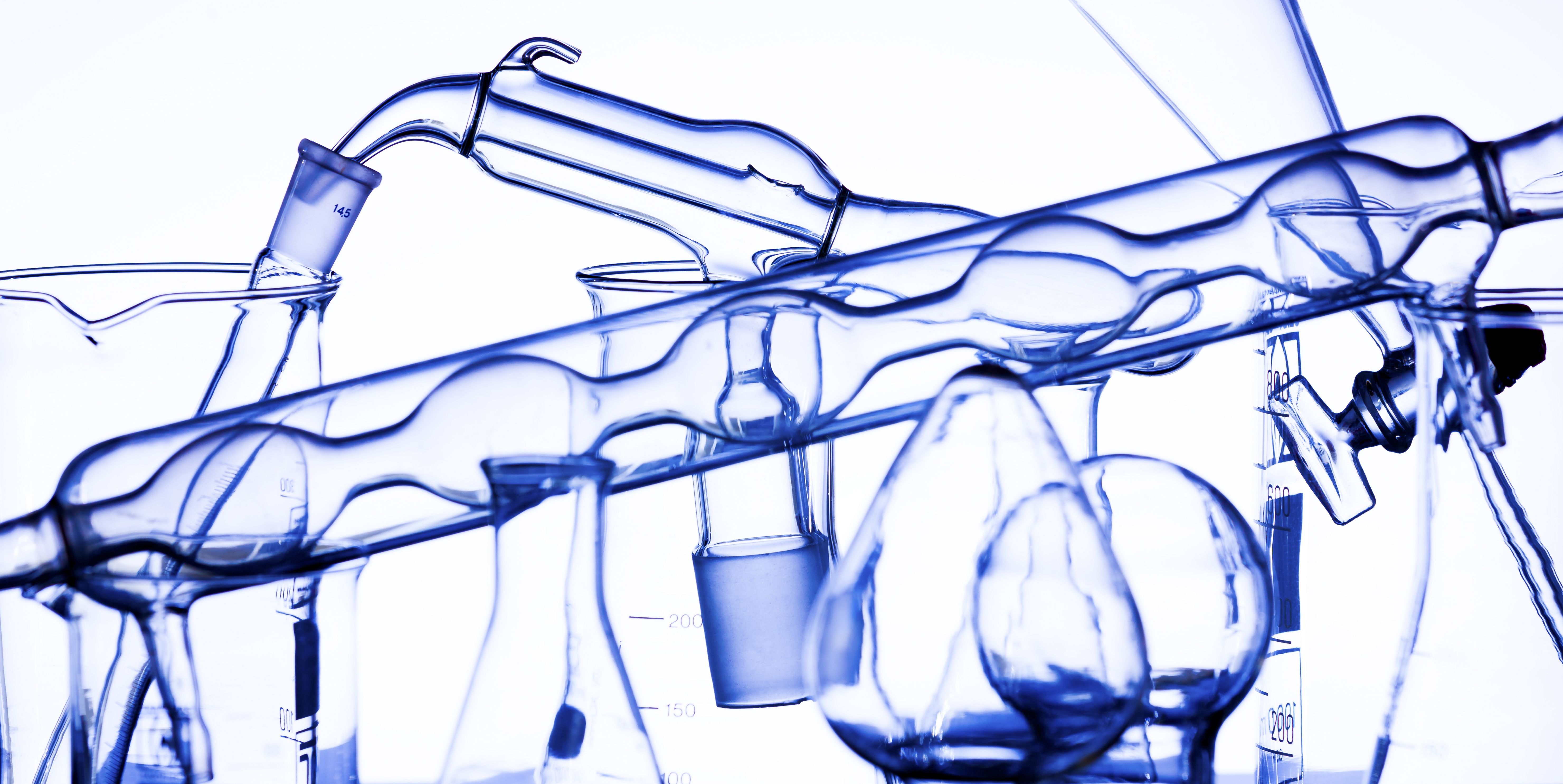 A well-equipped chemistry laboratory includes many different types of glassware.