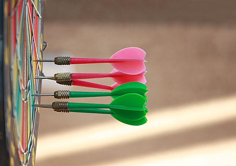 Darts in the dartboard