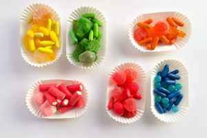 Candies sorted by color