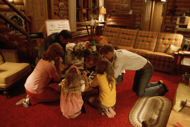 Mormon Family Praying Together