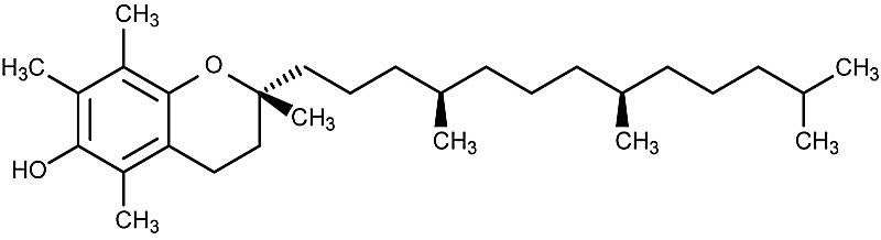 This is the chemical structure of alpha-tocopherol.