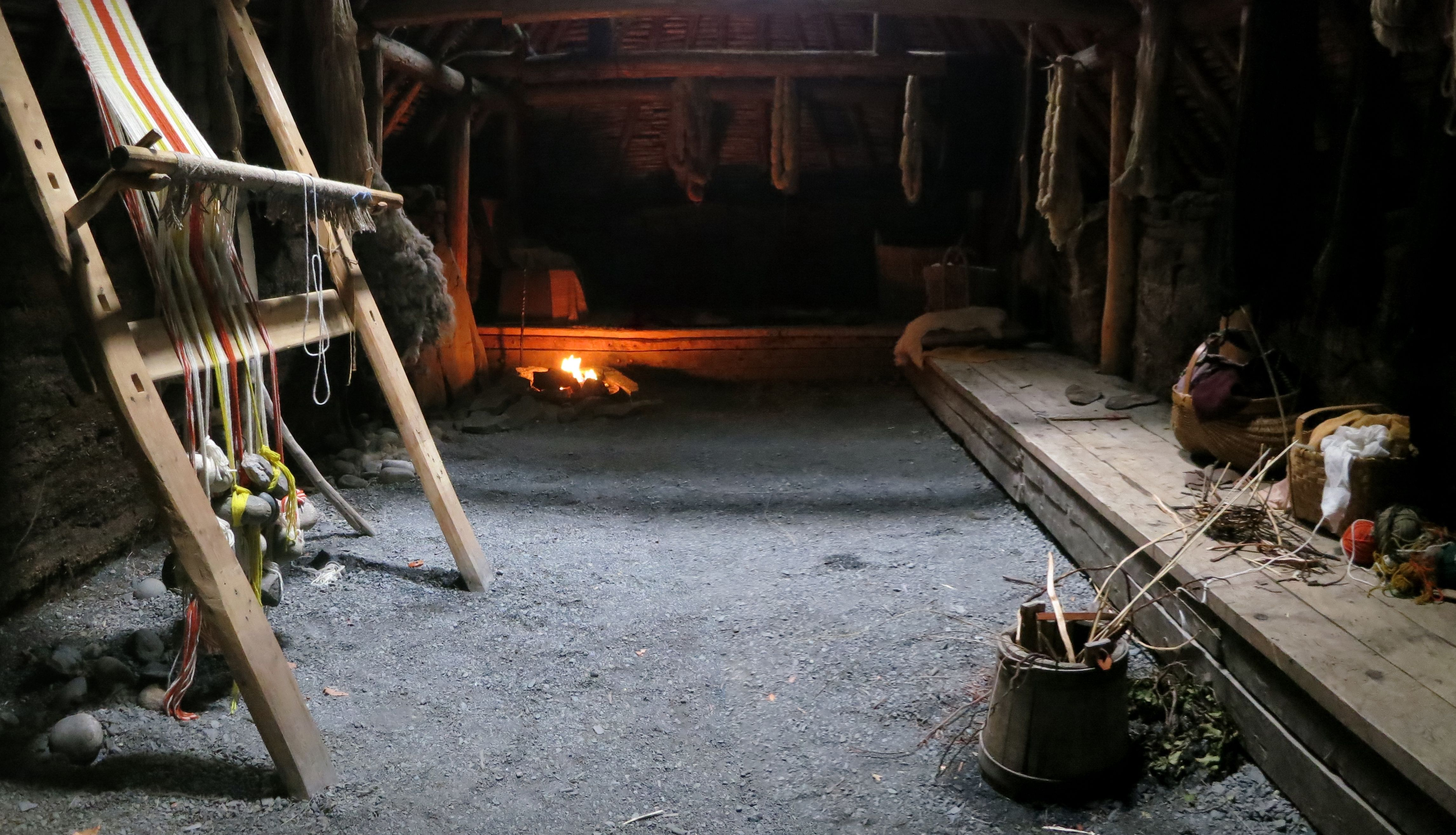 Interior of the Reconstruction of the Big Hall at l'Anse aux Meadows