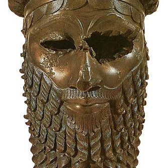 Bronze Head of an Akkadian Ruler -- Possibly Sargon the Great