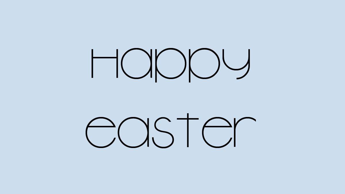 Happy Easter in New Garden font