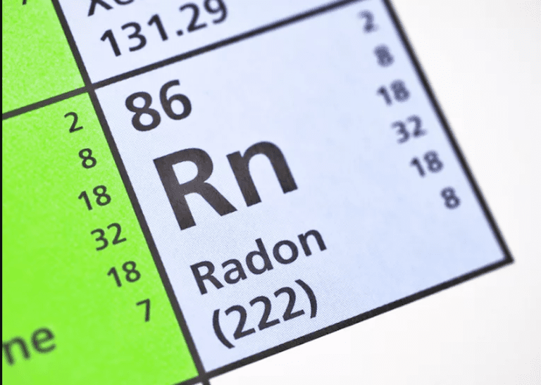 Radon on the periodic table