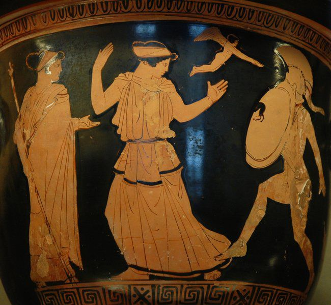 Helen of Troy at the Louvre. From an Attic red-figure krater from about 450-440 B.C.