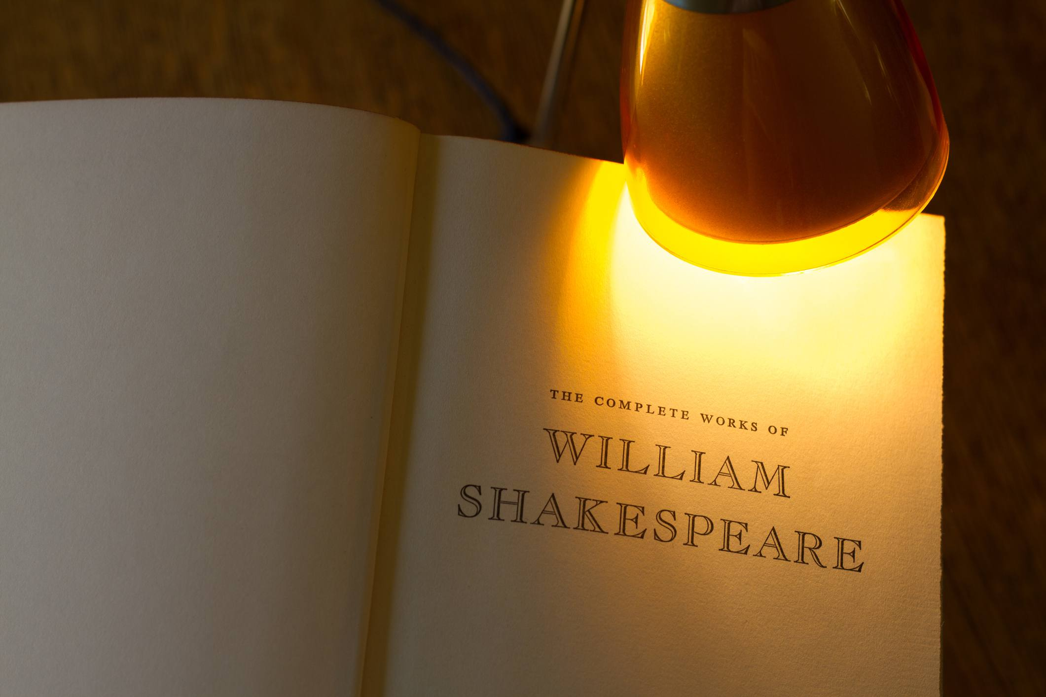 Vintage Title Page: 'The Complete Works of William Shakespeare'
