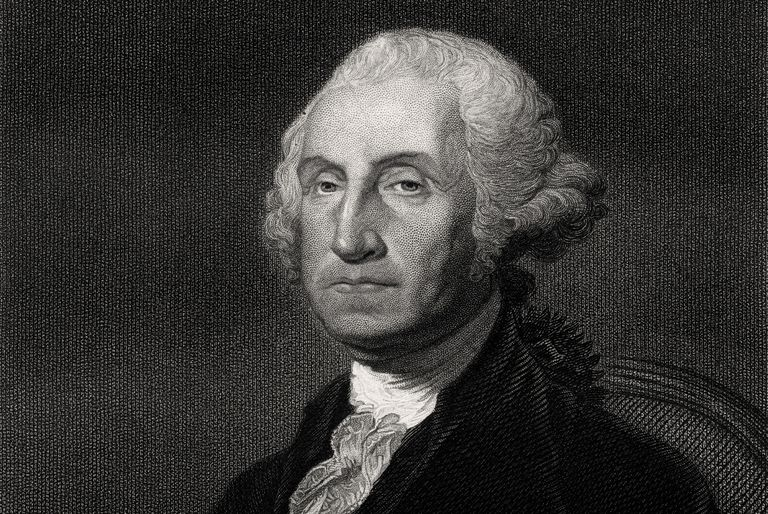 Engraved portrait of President George Washington