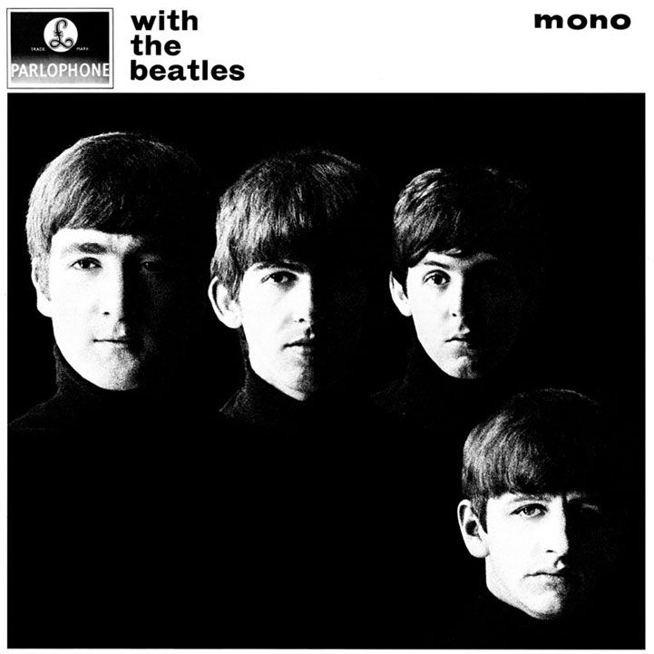 The beatles second uk album with the beatles the sophisticated black and white cover