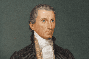 Portrait of James Monroe, the fifth president of the United States, circa 1800